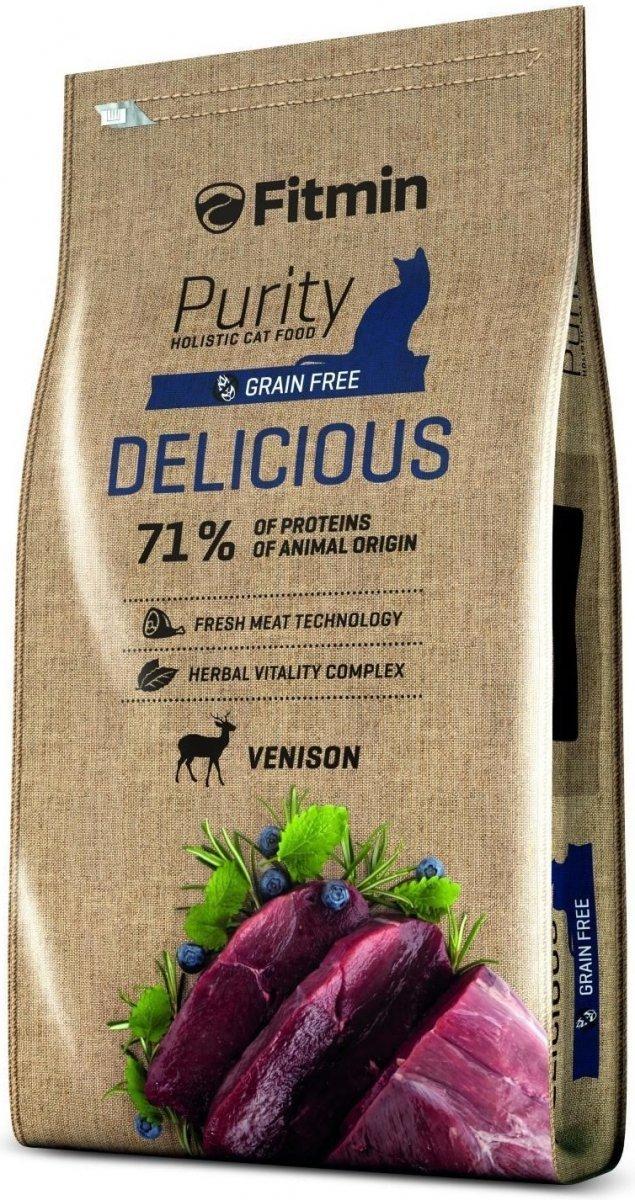 Fitmin Purity Delicious - karma z dziczyzną dla kotów wybrednych 400g
