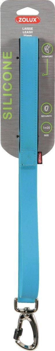 Zolux Smycz silikonowa - niebieska 1,2m/25mm