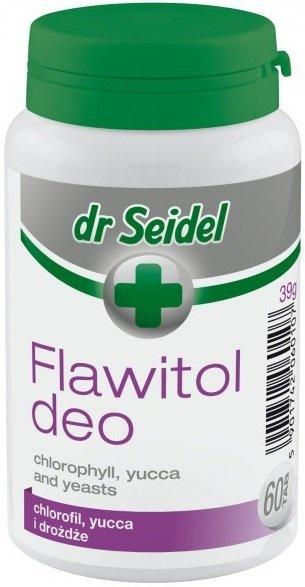 Dr Seidel Flawitol Deo z chlorofilem i Yucca Schidigera 60 tab.