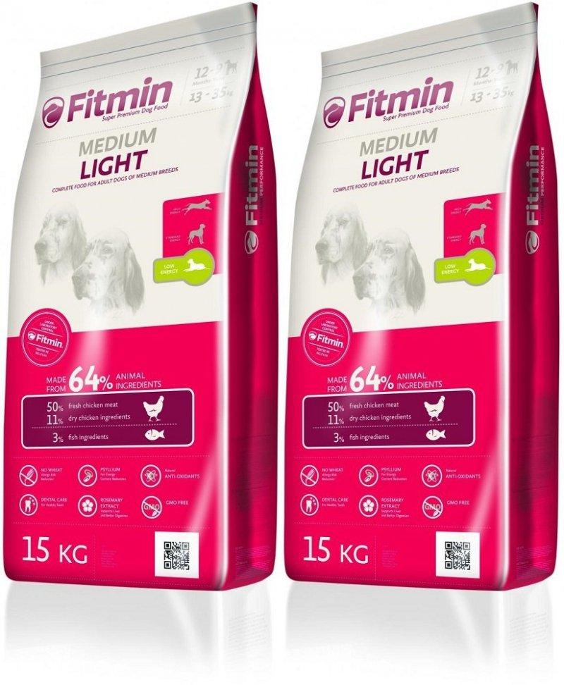 Fitmin Program Medium Light - karma z obniżoną zawartością energii dla psów średnich ras 2x15kg (30kg)