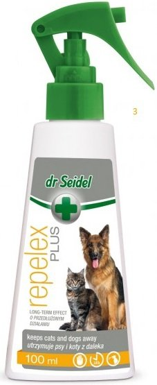 Dr Seidel Repelex Plus - utrzymuje psy i koty z daleka 100ml