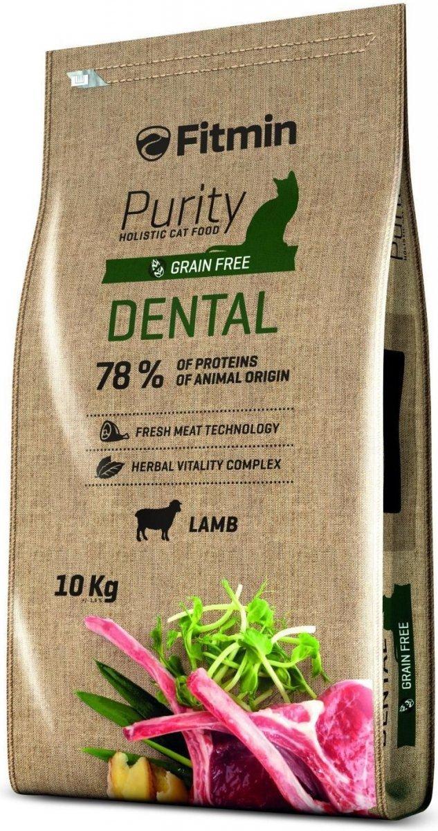 Fitmin Purity Dental - karma z jagnięciną dla kotów na zęby 10kg