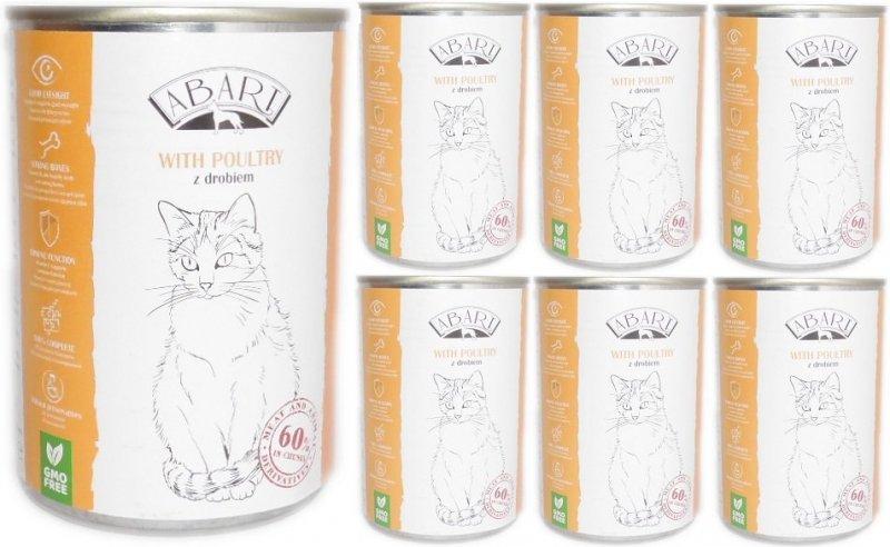 Abart Cat with Poultry - 60% mięsa - Drób w sosie 24x415g  20+4 Gratis