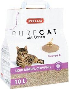 Zolux Pure Cat - Żwirek mineralny dla kota - zbrylający i lekki 10l