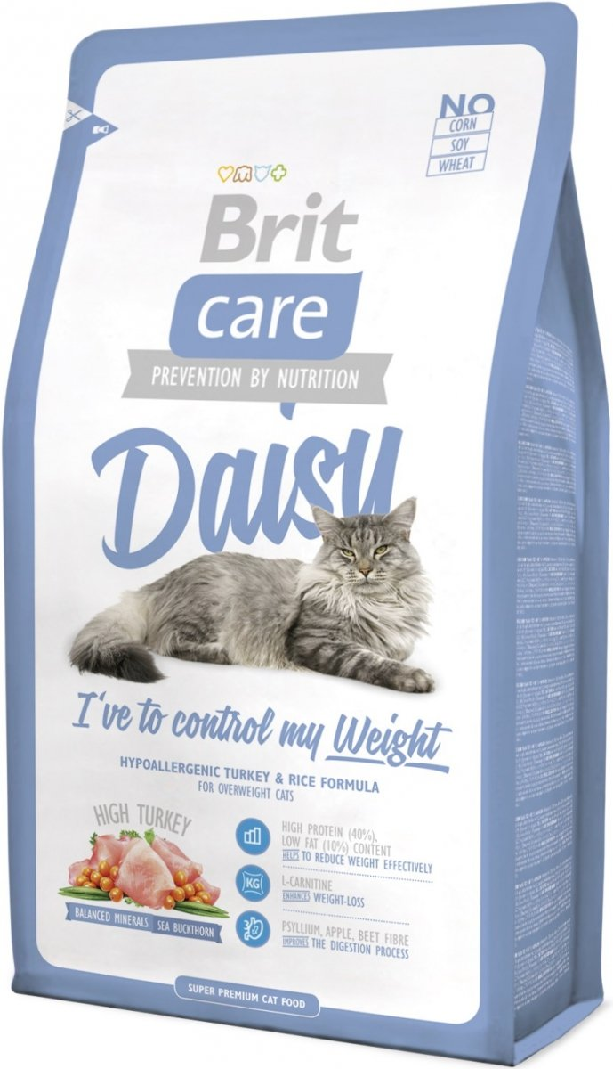 Brit Care Cat Light Daisy I've to control my weight Indyk z ryżem 2kg