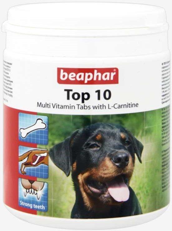 Beaphar Top 10 - tabletki witaminowe z L- karnityną 750szt.