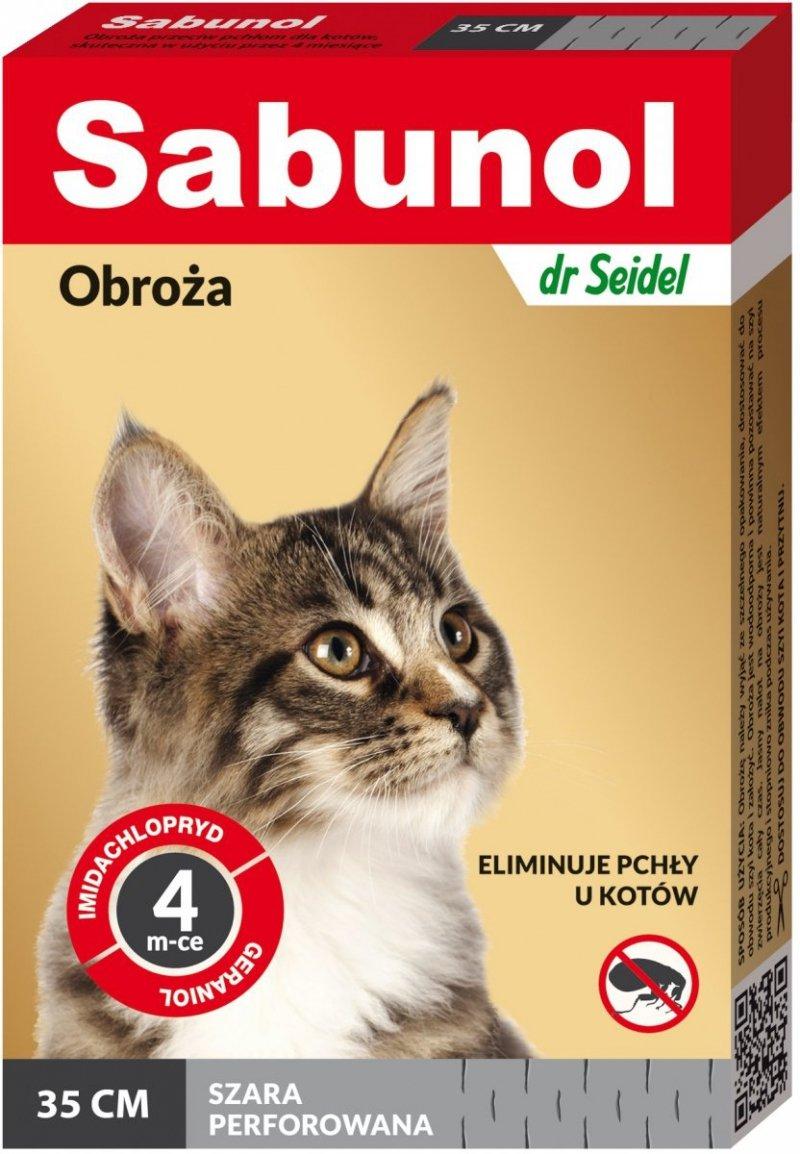 Sabunol Szara obroza przeciw pchłom dla kota 35cm