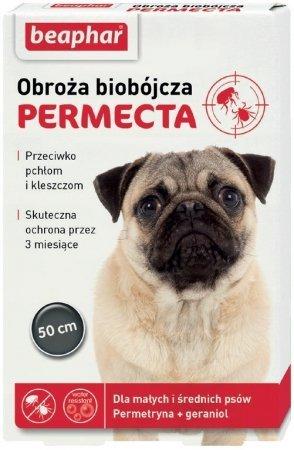 Beaphar Permecta Obroża biobójcza dla średnich i małych psów przeciw pchłom i kleszczom