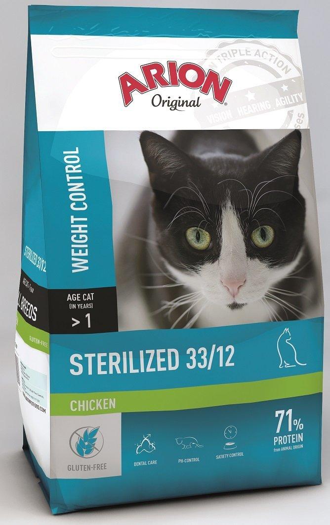 Arion Original Cat Sterilized 33/12 Chicken 7,5kg