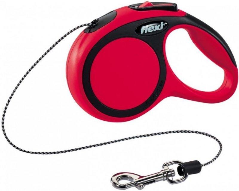 Flexi New Comfort XS linka 3m - czerwona