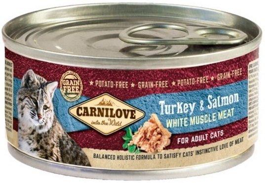Carnilove Cat Turkey & Salmon - mokra karma dla kotów dorosłych 24x100g