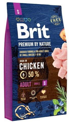 Brit Premium By Nature Small Adult S 1kg
