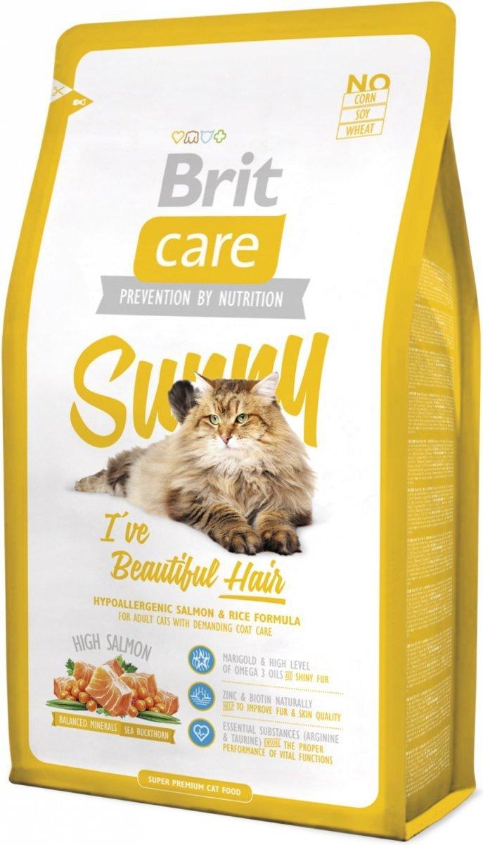 Brit Care Cat Sunny I've Beautiful Hair Łosoś z ryżem 2kg