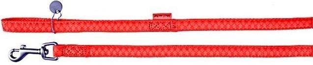 Smycz Mac Leather 15mm/1,2m czerwona