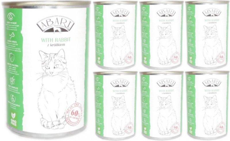 Abart Cat with Rabbit - 60% mięsa - Królik w sosie 48x415g