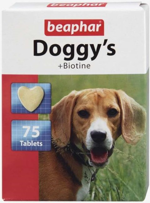 Beaphar Doggy's + Biotine - przysmak z zawartością biotyny 75tab.