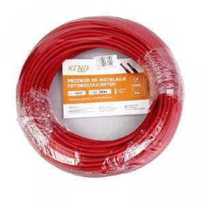 Przewód KENO 4mm2 czerwony opakowanie 50m