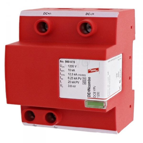 Ogranicznik przepięć DC DEHNcombo YPV do systemów PV do 1200V 4P typ I+II