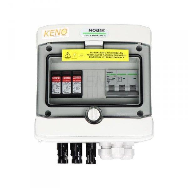 Skrzynka przył. DC+AC  z ogranicznikiem przepięć 1000V typu 2, 2 x łańcuch PV, 1 x MPPT // 16A 3-F