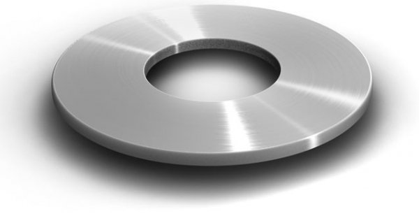 K2 podkładka stal nierdzewna, 10,5x30x1,5 mm
