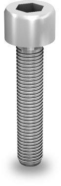 K2 Śruba imbusowa, M8x50 (stal nierdzewna 'A2') z ząbkowaniem (nie wymaga podkładki)