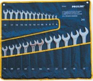 Klucze płasko-oczkowe 6-32 24 Szt Proline