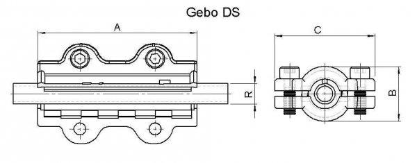 Obejma naprawcza DS długa DN20