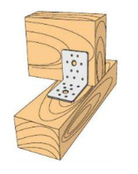 Łącznik budowlany kątownik łącznikowy 50x50x35
