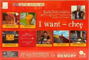 I want - chcę. Gra edukacyjna Memory językowe