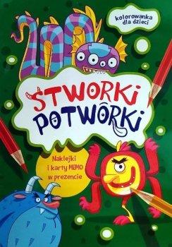 Stworki Potworki. Kolorowanka + memo