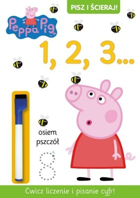 Świnka Peppa. Pisz i ścieraj. 1, 2, 3...