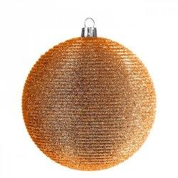 Bombka świąteczna NANCY 1-10 8CM Pomarańcz