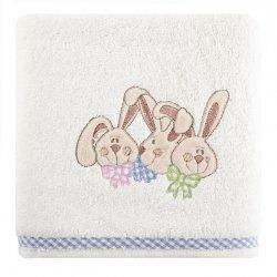 Ręcznik dziecięcy BABY7 Krem Niebieski 70X140 450gsm