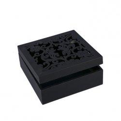 Pudełko FIORE 01 Czarne 16X16X6
