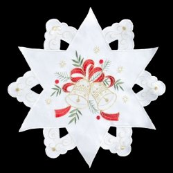 Obrus ELLI Świąteczny 30 Kremowo Złoty