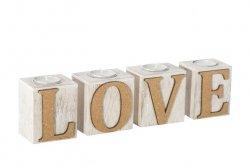 Świecznik LOVE 01 30X6X8