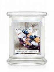Kringle Candle - Blueberry Muffin - średni, klasyczny słoik (454g) z 2 knotami