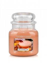 Country Candle - Peach Bellini -  Średni słoik (453g) 2 knoty