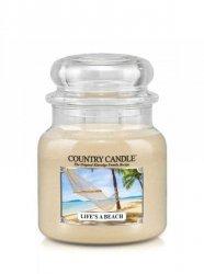 Country Candle - Life s A Beach - Średni słoik (453g) 2 knoty