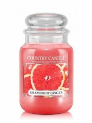 Country Candle - Grapefruit Ginger - Duży słoik (652g) 2 knoty