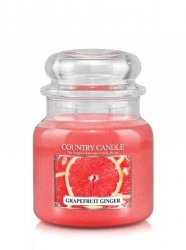 Country Candle - Grapefruit Ginger - Średni słoik (453g) 2 knoty