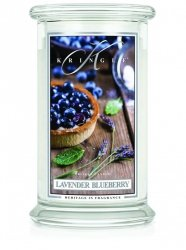 Kringle Candle - Lavender Blueberry - duży, klasyczny słoik (623g) z 2 knotami