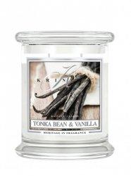 Kringle Candle - Tonka Bean & Vanilla - średni, klasyczny słoik (411g) z 2 knotami