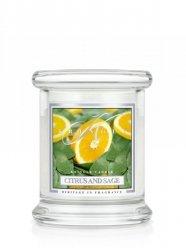 Kringle Candle - Citrus and Sage - mini, klasyczny słoik (128g)