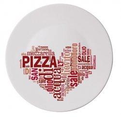 TALERZ DO PIZZY RONDA LOVE RED 33CM -BORM