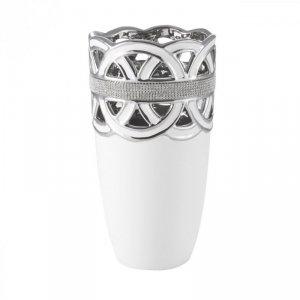 LEIA Wazon 02 16X16X28 Biały+Srebrny