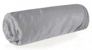 Prześcieradło NOVA3 z makosatyny 220X200 z gumką Srebrne Eurofirany