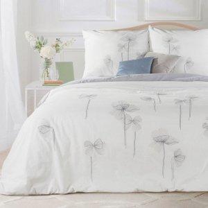 Pościel CORNELIA 220X200 Biały Kwiaty Eurofirany