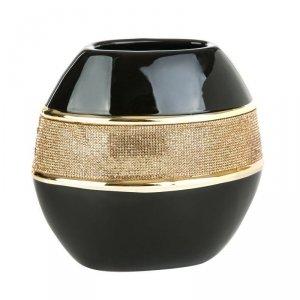 Wazon dekoracyjny NATI 01 20.5X10.5X20.5 Czarny+Złoty