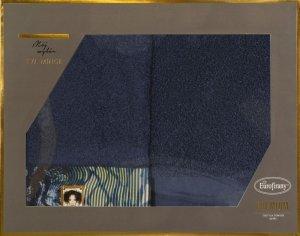 Eva Minge Komplet Ręczników CARLA 50x90 Granatowy Eurofirany
